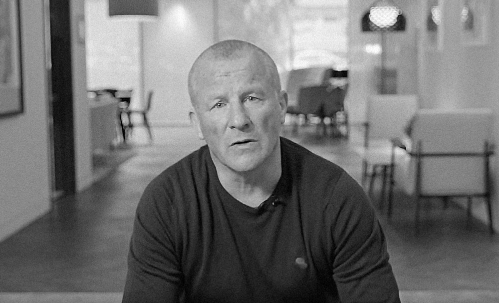 Neil Woodford, in a still from a video announcing the suspension of redemptions from his fund. (via YouTube)